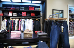 Upper clothes in shop 2 Stock Image