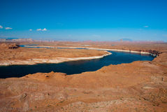 Upper Colorado River, Arizona and Utah, USA. Valley of the Colorado River in Arizona and Utah near Page, USA royalty free stock image