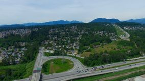 Upper Coquitlam. Above the Mayfair Industrial Park looking towards Austin Station Royalty Free Stock Image