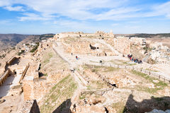 Upper court of ancient castle Kerak, Jordan Royalty Free Stock Photos