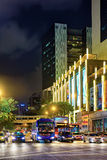 Upper Cross street with car traffic in China town Singapore Royalty Free Stock Images