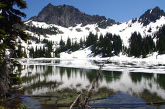 Upper Crystal Lake in Cascades Royalty Free Stock Photos