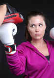 Upper Cut Girl Stock Photography