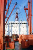 Upper deck. The upper deck of freight ship Royalty Free Stock Image