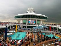 Upper Deck Activities at Cruise Ship Stock Photography