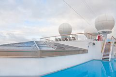 Upper deck of cruise liner Royalty Free Stock Photo