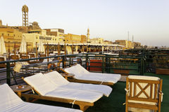 Upper deck of a cruise ship. In egypt Royalty Free Stock Image