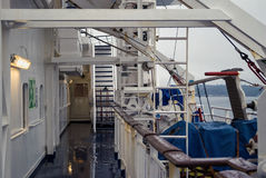 The upper deck of the ferry. Stock Photography