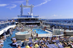 Upper deck of Princess cruise ship Stock Images
