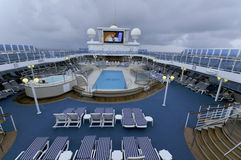 Upper deck of Princess cruise ship Royalty Free Stock Images