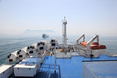 Upper deck of a ship Royalty Free Stock Photography