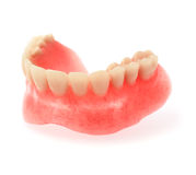An upper denture on white background Stock Photography
