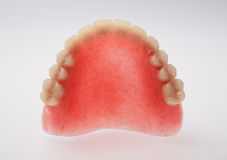 An upper denture on white background Royalty Free Stock Photography