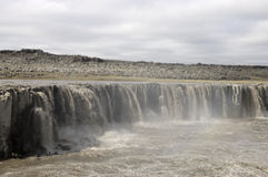 Upper Dettifoss waterfall, Iceland. Stock Photography