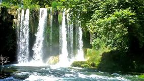 The Upper Duden Waterfall stock footage