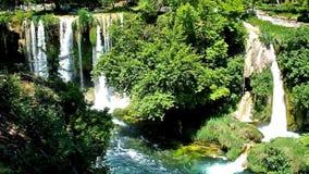 Upper Duden Waterfall stock footage
