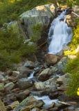 Upper Eagle Falls. Pretty alpine waterfall at Emerald Bay, Upper Eagle Falls Stock Photography