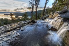 Free Upper Eagle Falls Sunrise Royalty Free Stock Photography - 123246797