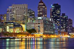 Upper East Side New York City. Skyline viewed from across the East River Stock Photo