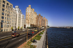 Upper East Side NYC. Upper East Side River NYC Royalty Free Stock Photo