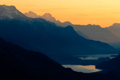 Upper Engadine With Lake St Moritz Stock Image