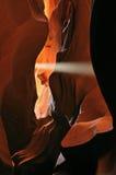 upper för sunbeam för antilopkanjonöppning Royaltyfria Bilder