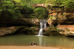 Upper Falls At Old Man S Cave, Hocking Hills State Park, Ohio. Stock Photo