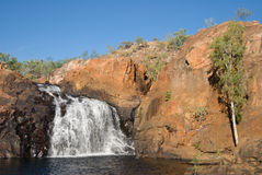 Upper falls at Edith Falls. Upper pool and falls at Edith Falls (Leliyn) in the Northern Territory, Australia stock photos