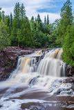 Upper Falls at Gooseberry Falls State Park. This is the Upper Falls at Gooseberry Falls State Park. This is in the Lake Superior North Shore area in Minnesota Royalty Free Stock Photography