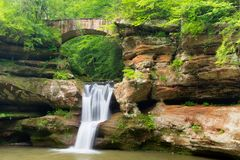 Upper Falls at Hocking Hills State Park. In Ohio Royalty Free Stock Photo