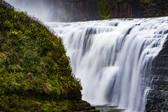 Upper Falls at Letchworth State Park - Waterfall - New York Stock Photo