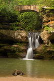 Upper Falls at Old Man's Cave, Hocking Hills State Park, Ohio. Stock Photography