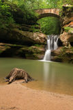 Upper Falls at Old Man's Cave, Hocking Hills State Park, Ohio. Stock Photo