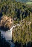 Upper Falls waterfall in Grand Canyon of Yellowstone Stock Photo