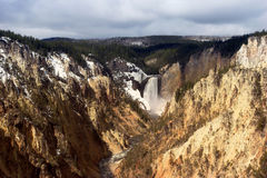 Upper falls of yellowstone. The upper falls in yellowstone national park Stock Images