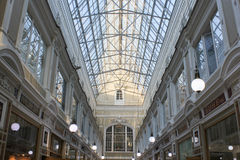 The upper floor and the glass roof of the Passage. Royalty Free Stock Photo
