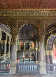 Upper floor of Tipu Sultan Palace in Bangalore. Stock Image