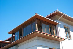 Upper floors of a large house Royalty Free Stock Image