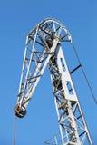 Upper fragment of industrial harbor crane Stock Photography