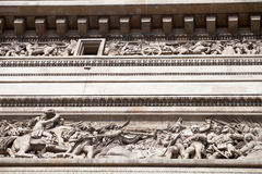 Upper frieze of Triumphal Arch in Paris Royalty Free Stock Image