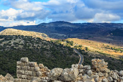 Upper Galilee mountains landscape stones, rocks and ruins of ancient fortress, north Israel view. Upper Galilee mountains landscape stones, rocks and ruins of Royalty Free Stock Photos