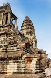 Upper gallery and tower at Temple Mountain of Angkor Wat Royalty Free Stock Photos