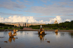 The Upper Gardens of Peterhof Royalty Free Stock Photo