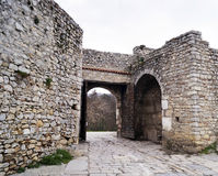 Upper gate in Ohrid, Macedonia Royalty Free Stock Photos
