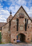 Upper gate, Riquewihr, Alsace, France Stock Photography