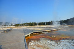 Upper Geyser Basin Boardwalk Stock Photos