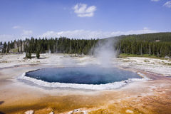Upper geyser basin Yellowstone Stock Image