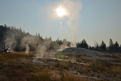 Upper Geyser Sunrise Stock Photos