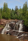 Upper Gooseberry Falls. In Minnesota Stock Photo