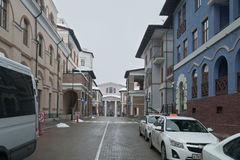 Upper Gorky Gorod - all-season resort town 960 meters above sea level Royalty Free Stock Photo